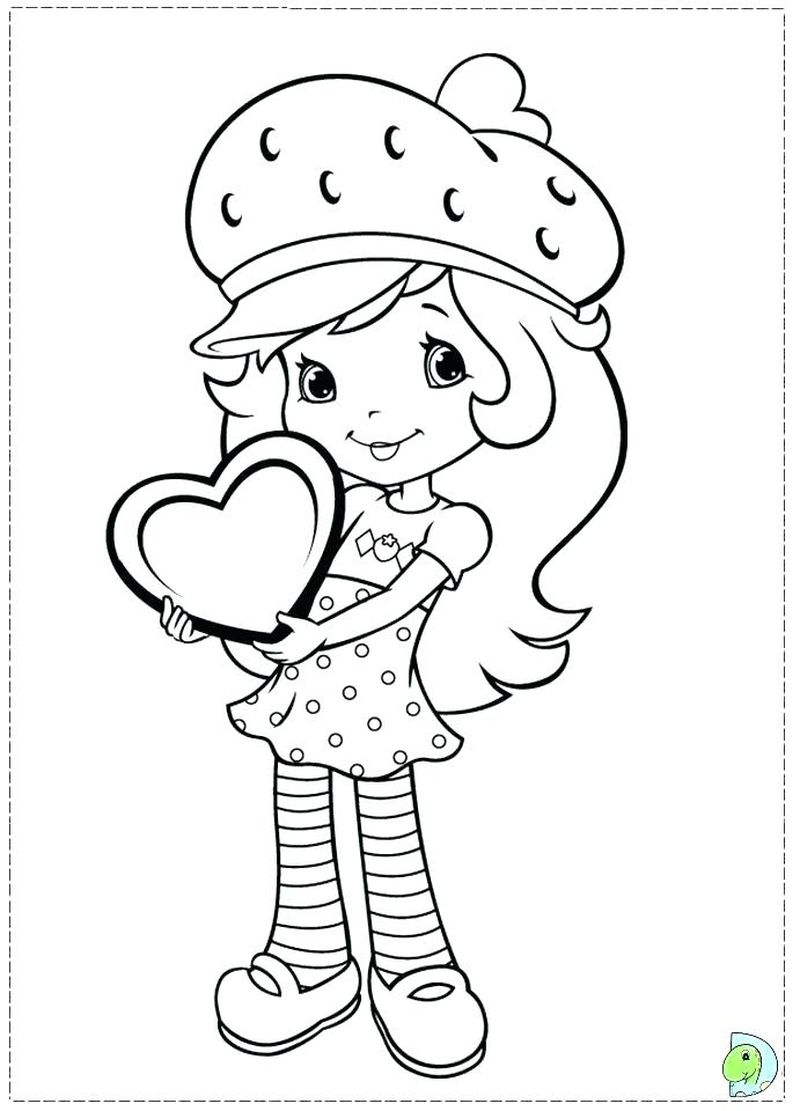 strawberry shortcake and her friends coloring pages
