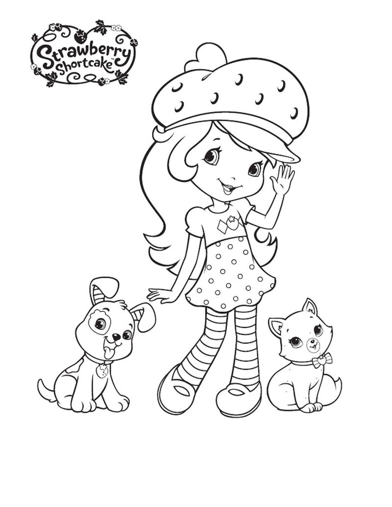 strawberry shortcake ballet coloring pages