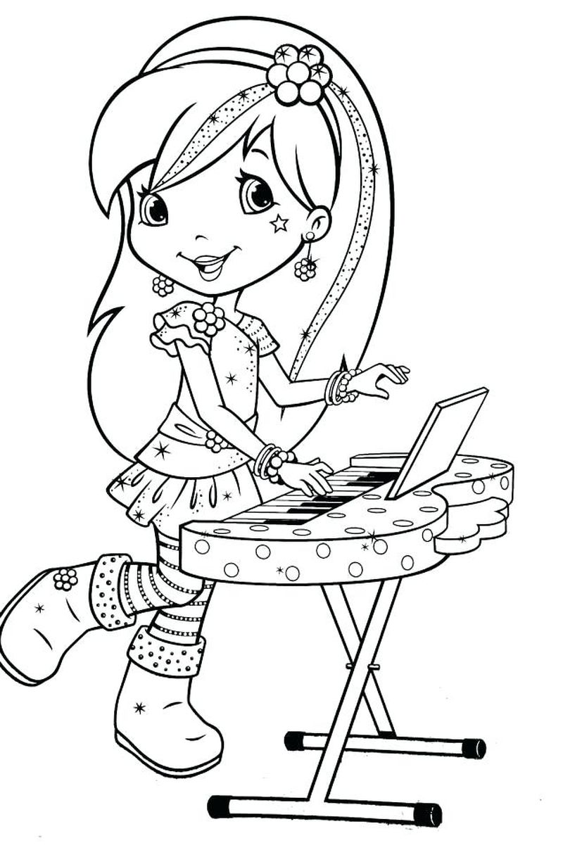 strawberry shortcake berry bitty ballet coloring pages Printable