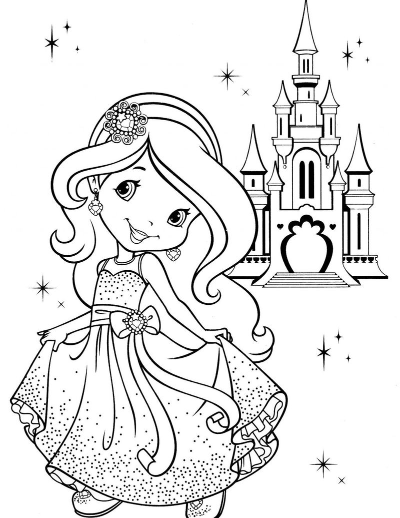 strawberry shortcake boutique coloring pages