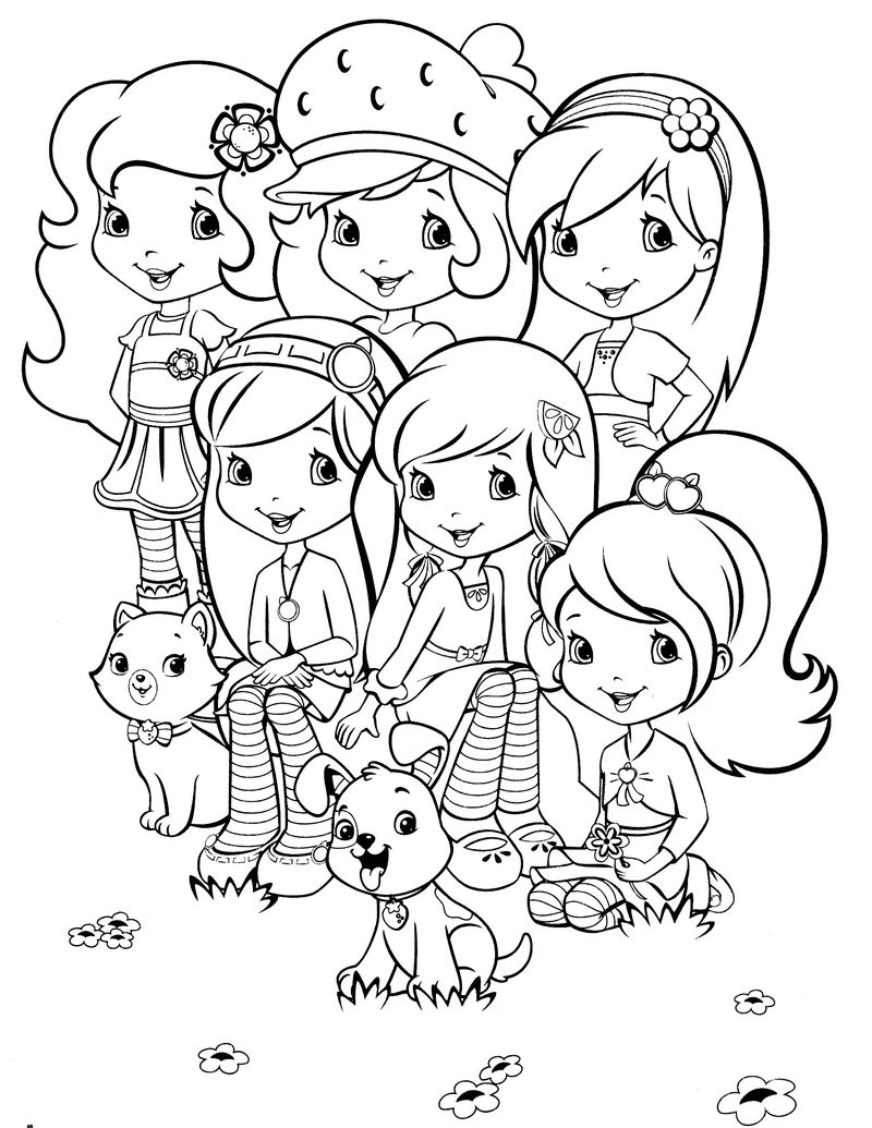 strawberry shortcake boy coloring pages Printable