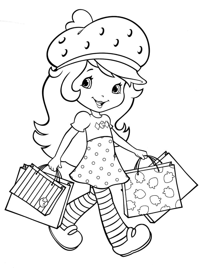 strawberry shortcake cake bundle coloring pages