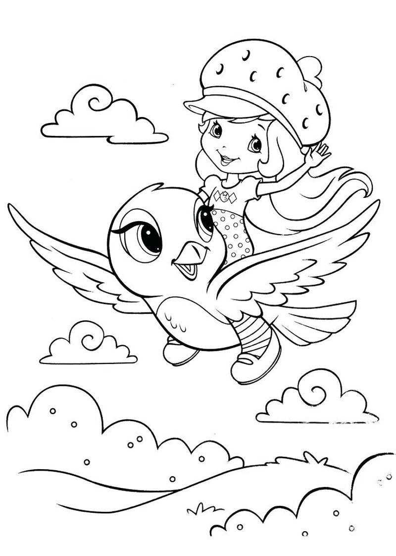 strawberry shortcake cake coloring pages Printable