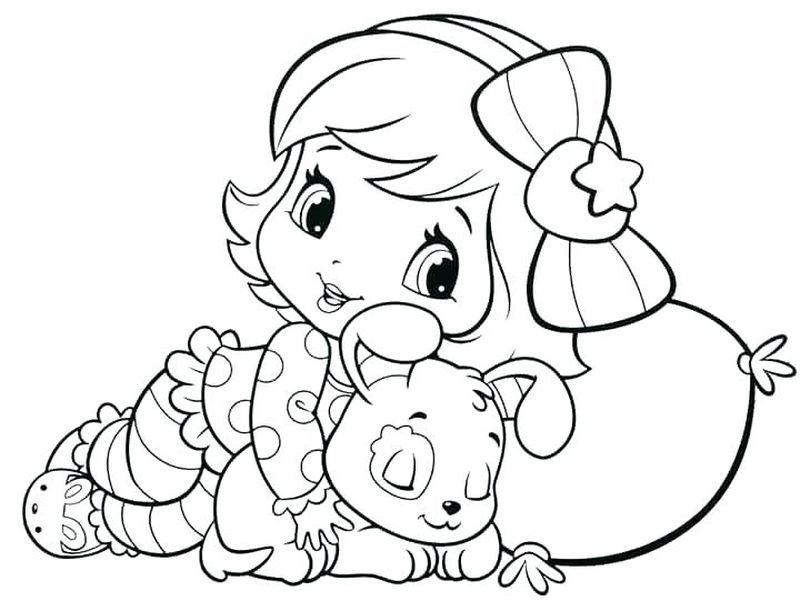 strawberry shortcake cartoon coloring pages Printable