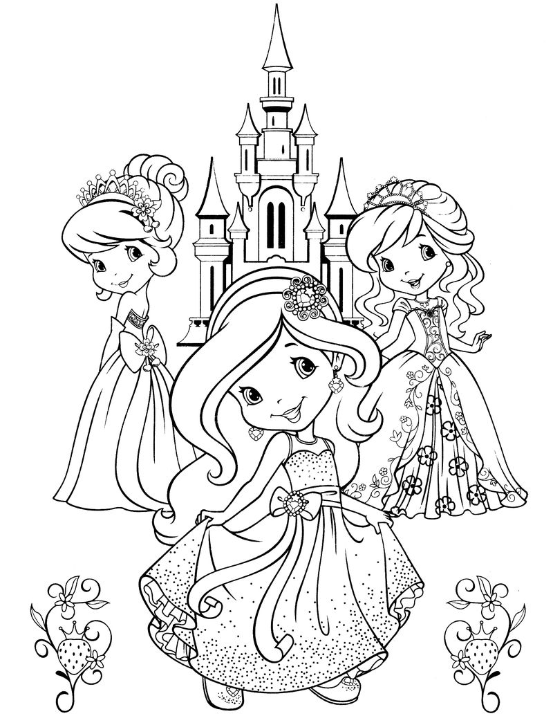 strawberry shortcake coloring pages blueberry and scouty