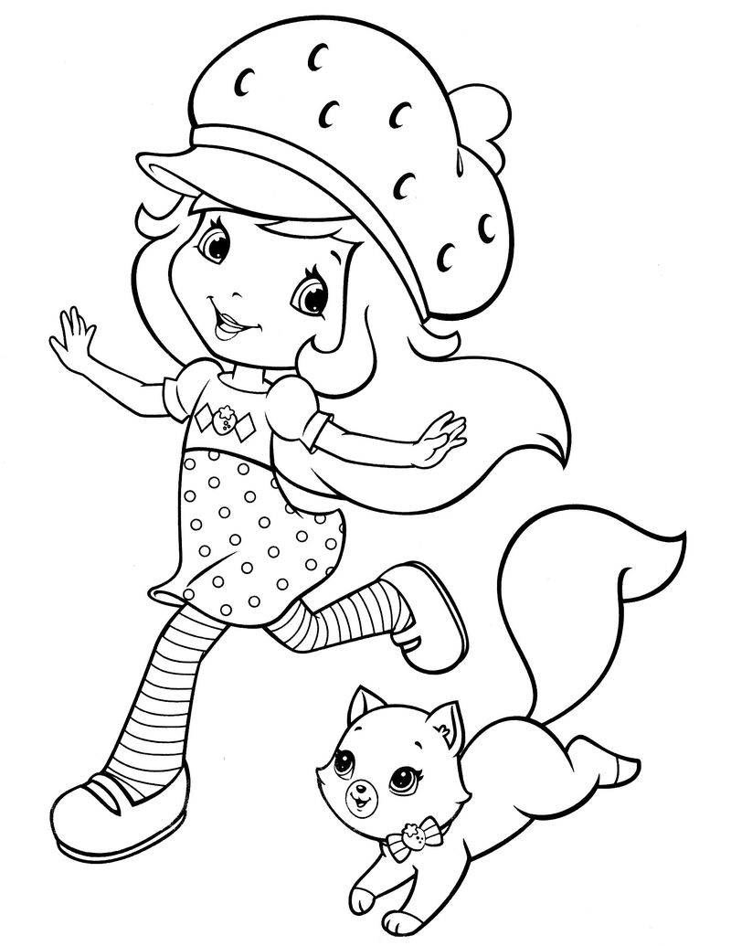 strawberry shortcake coloring pages classic Printable