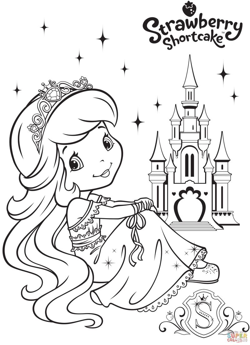strawberry shortcake coloring pages for girls with color