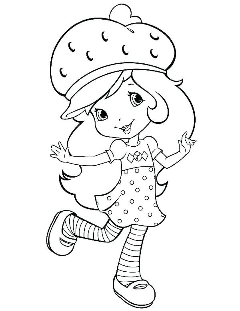 strawberry shortcake coloring pages print Printable