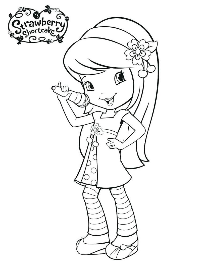 strawberry shortcake coloring pages pup cup Printable