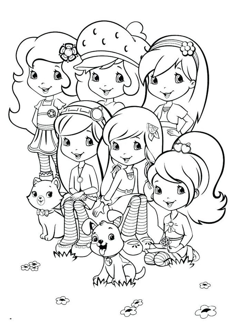 strawberry shortcake coloring pages pupcup