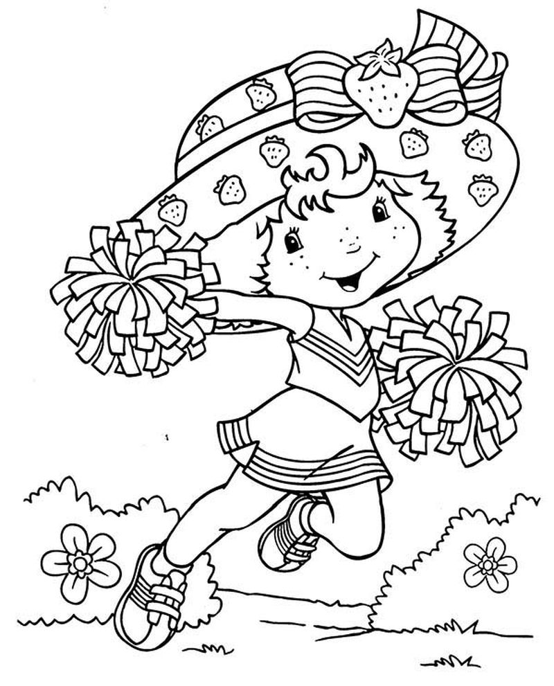 strawberry shortcake coloring pages sweet greap