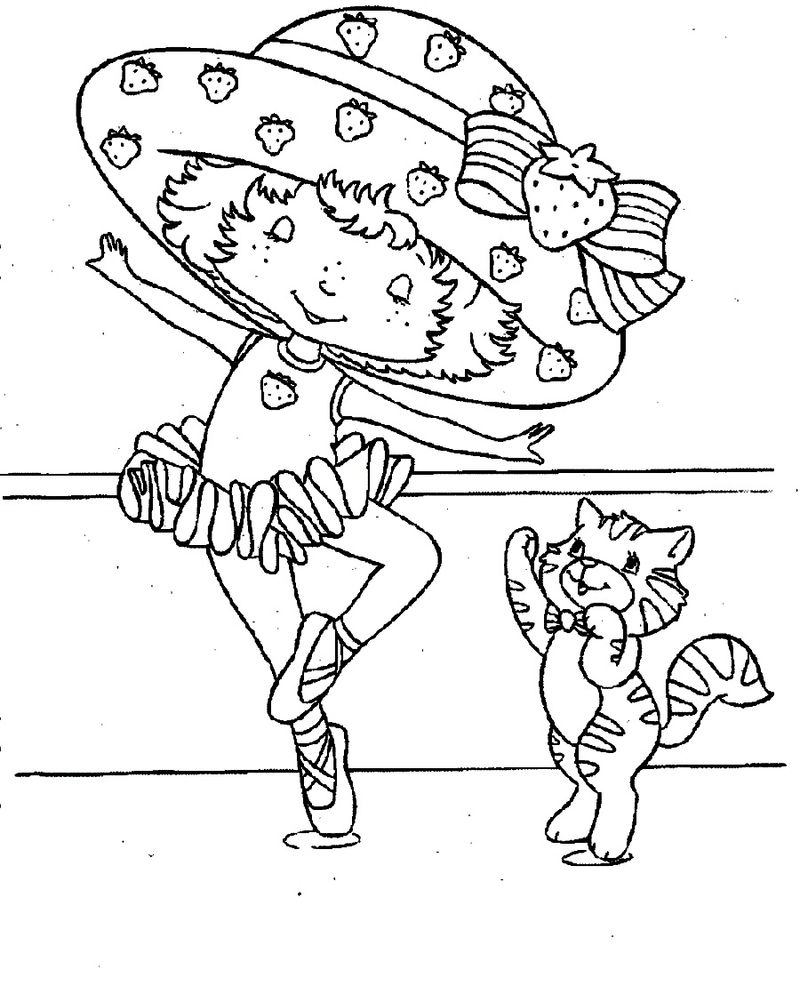 strawberry shortcake custard coloring pages
