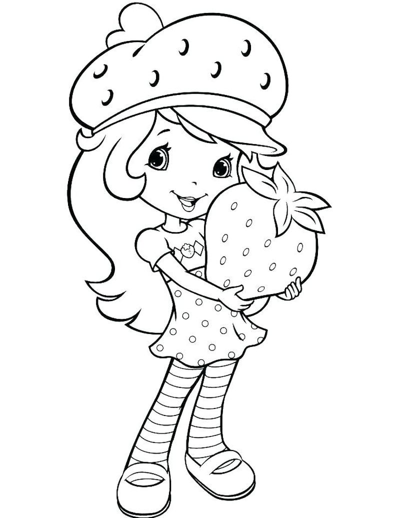 strawberry shortcake free PRINTABLE coloring pages Printable