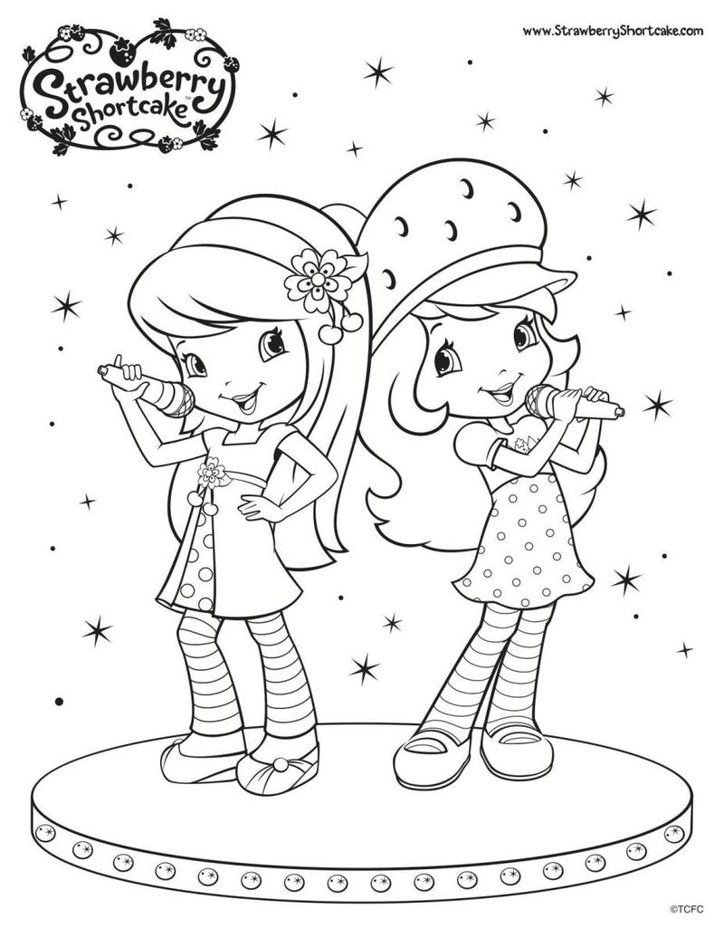 strawberry shortcake free coloring pages to print Printable