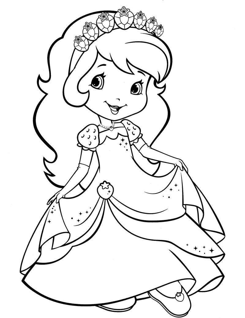 strawberry shortcake free coloring pages to print pop cake