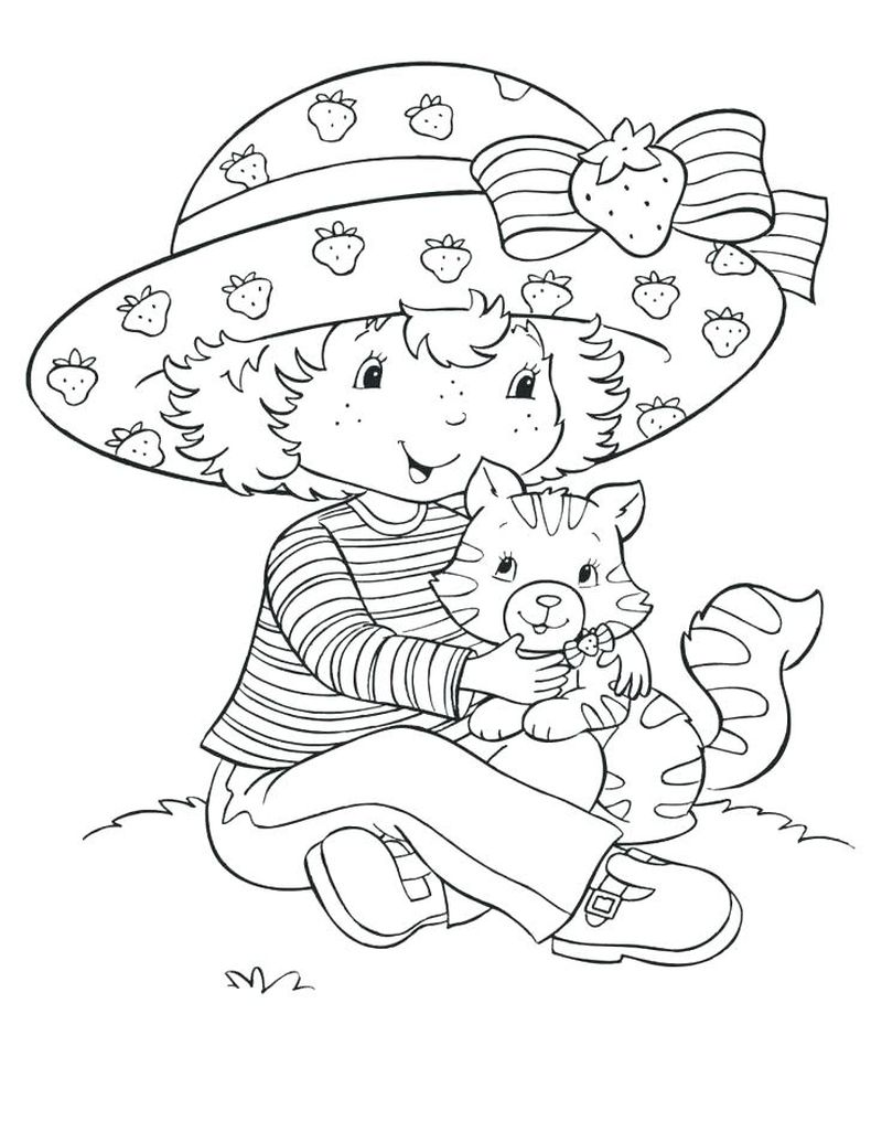 strawberry shortcake fun under the sun coloring pages Printable