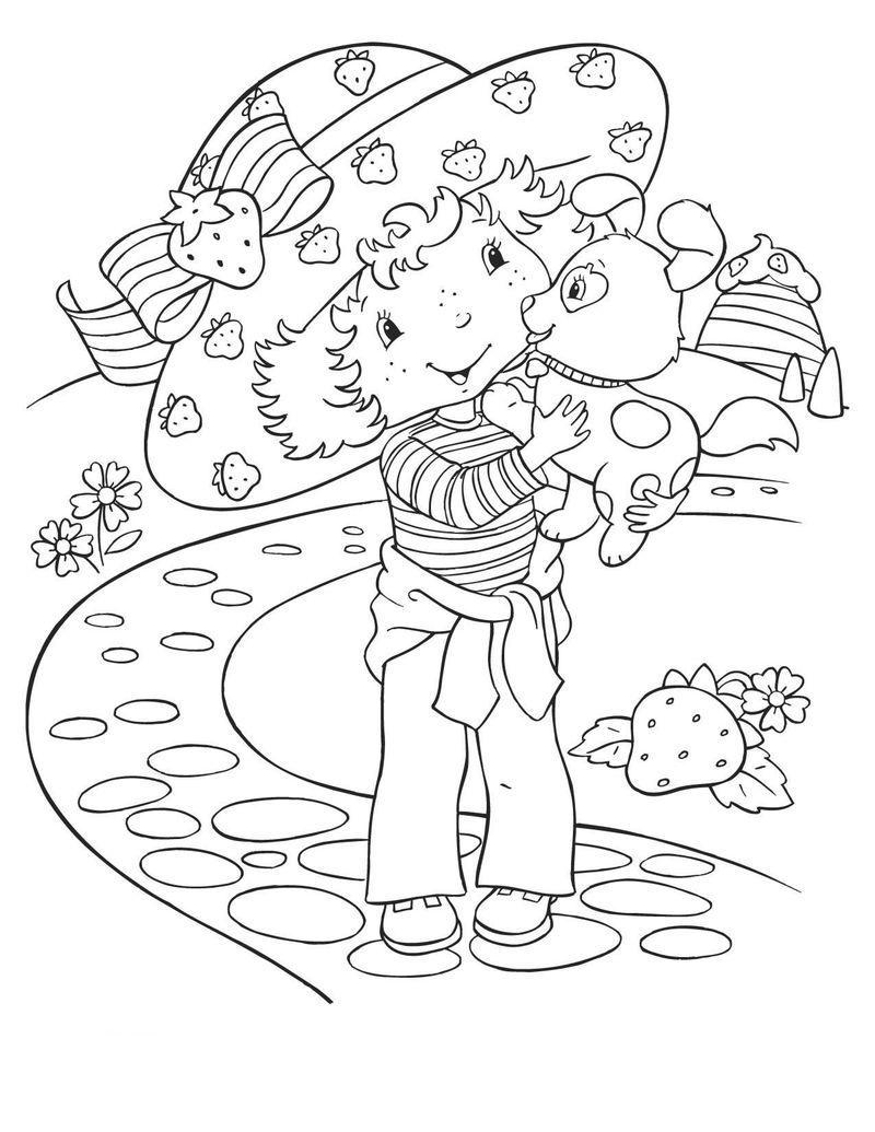 strawberry shortcake house coloring pages