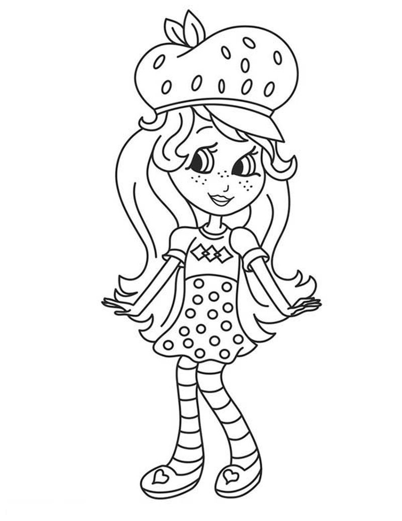 strawberry shortcake huckleberrry pie prince coloring pages