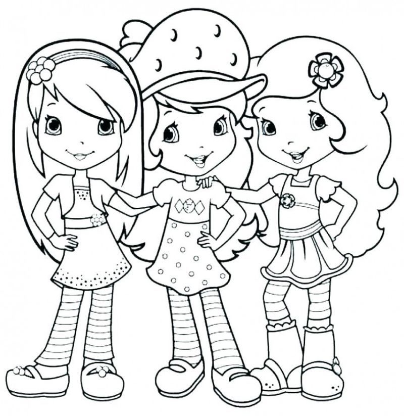 strawberry shortcake in the meadow coloring pages Printable