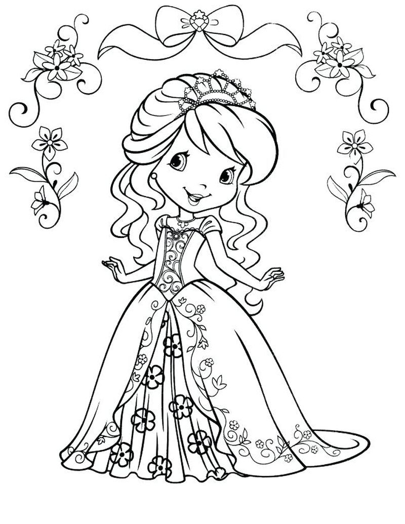 strawberry shortcake mermaid coloring pages