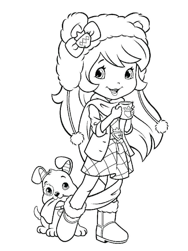 strawberry shortcake old school coloring pages
