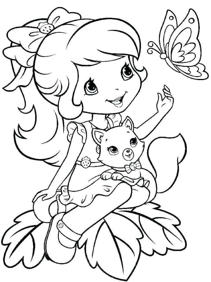 strawberry shortcake palace pet coloring pages Printable