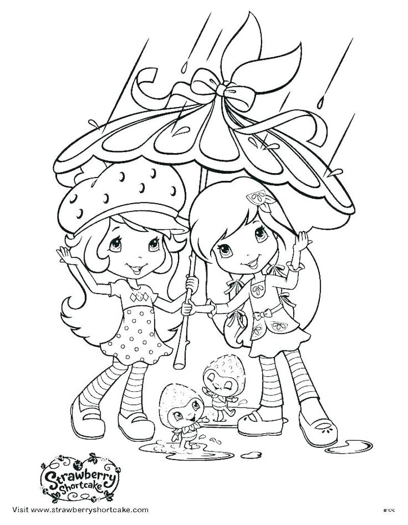 strawberry shortcake plum coloring pages Printable