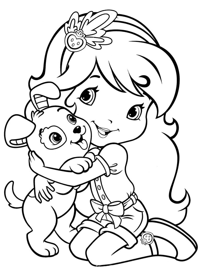 strawberry shortcake princess with all friends coloring pages