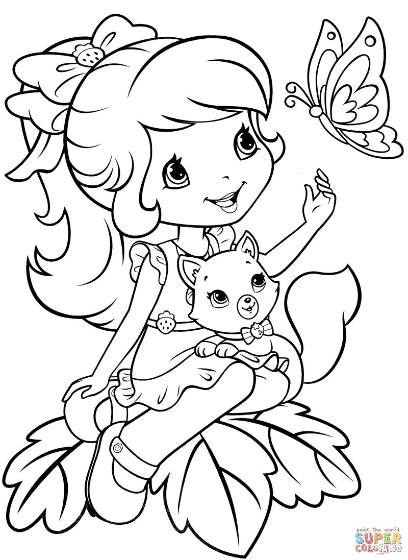 strawberry shortcake puppy coloring pages printable Printable