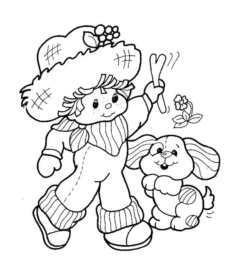 strawberry shortcake raspberry princess coloring pages Printable