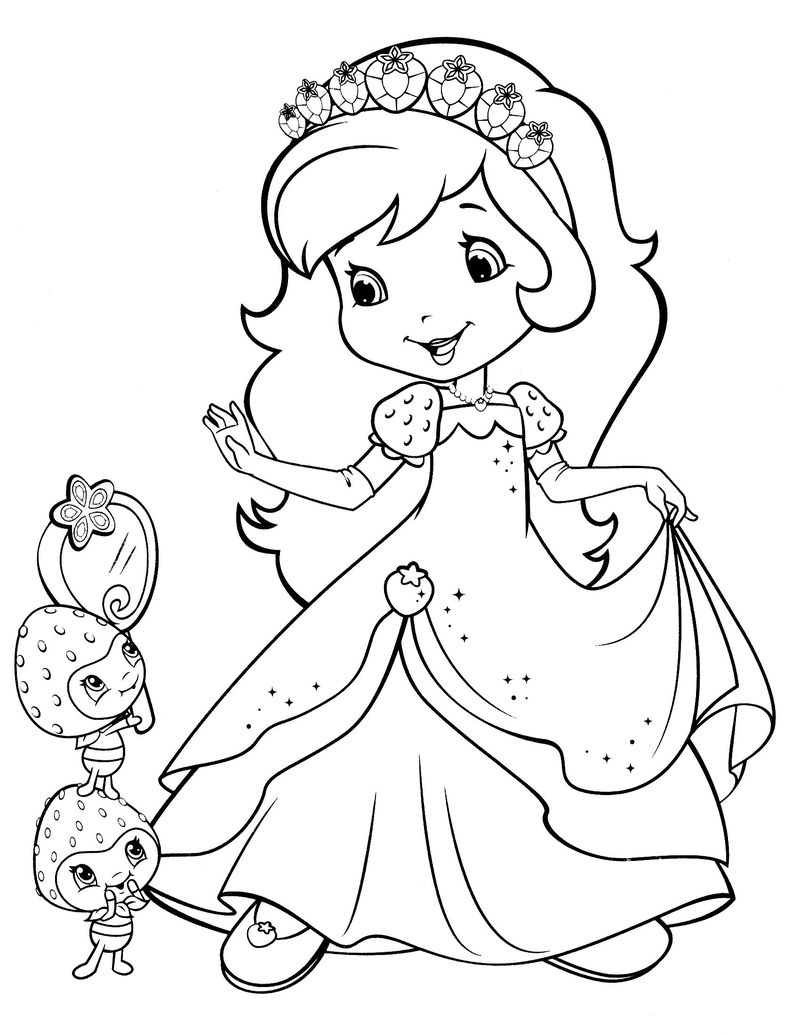 strawberry shortcake season 4 coloring pages Printable