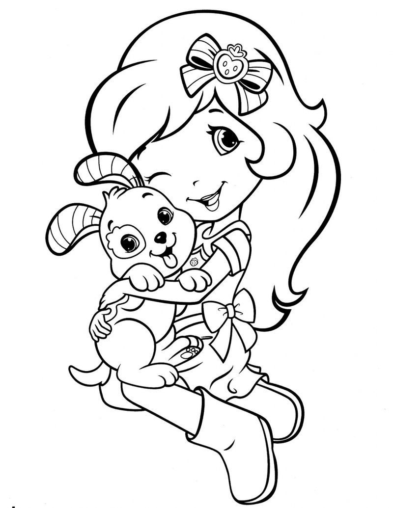 strawberry shortcake snowberry days coloring pages Printable