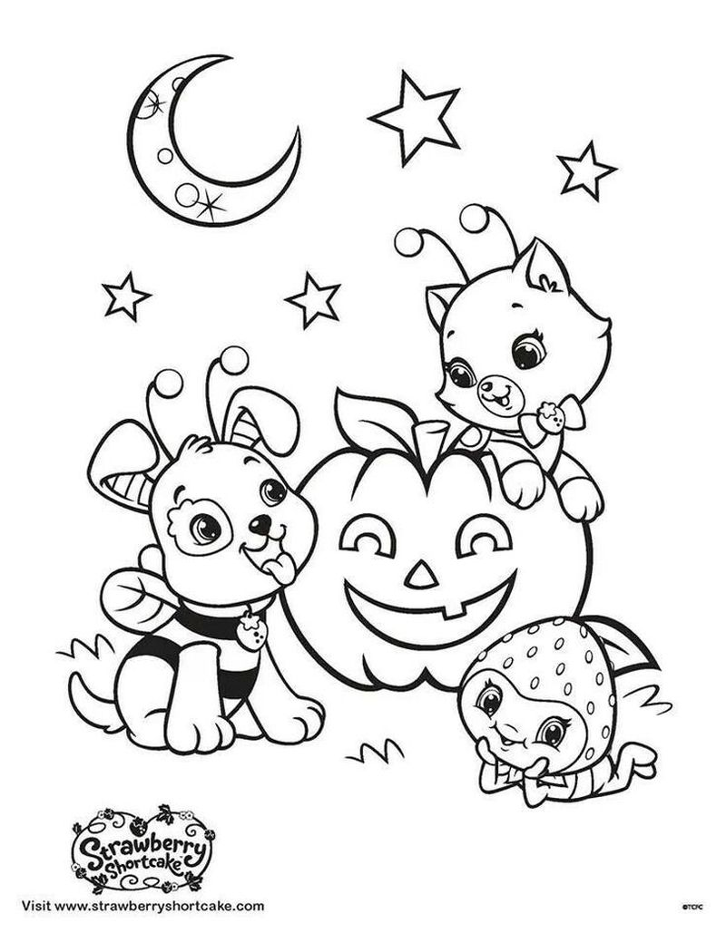 strawberry shortcake the cartoon coloring pages Printable
