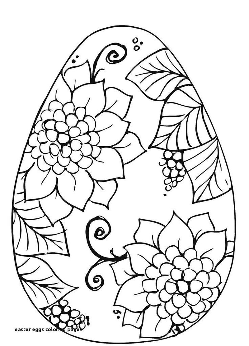 striped easter egg coloring pages