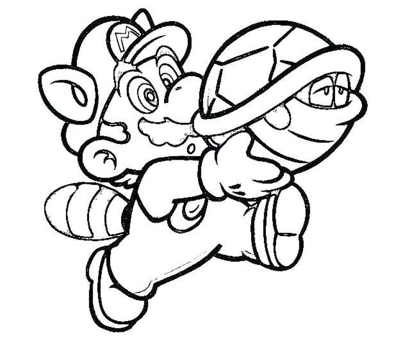 super mario 3d world coloring pages Printable