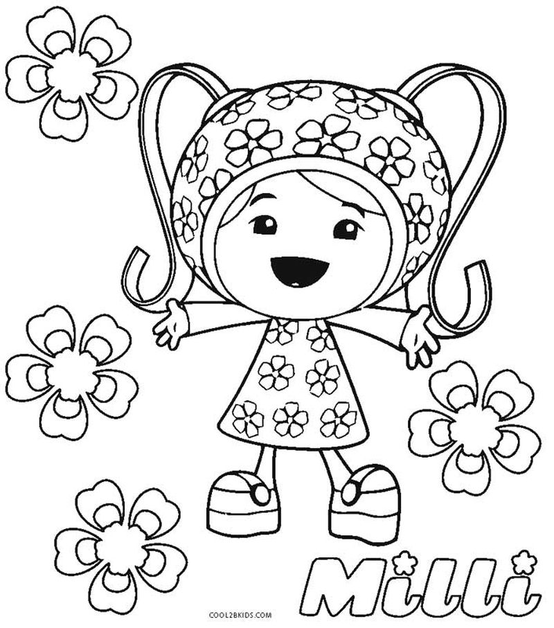 team umizoomi coloring pages to print