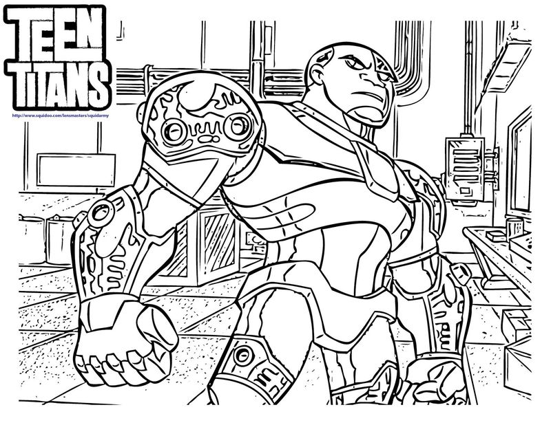 teen titans coloring book Printable