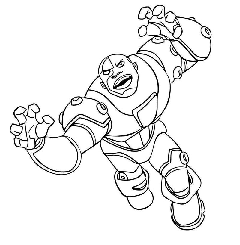 teen titans coloring sheet Printable Printable