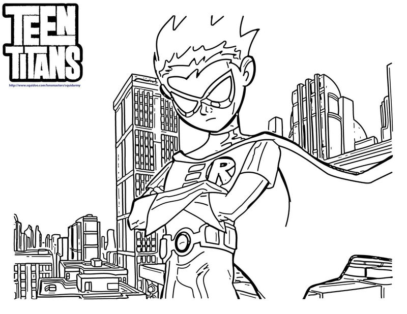 teen titans colouring Printable