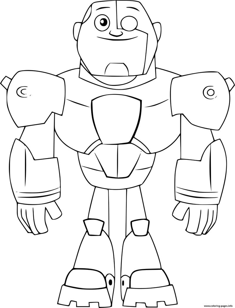 teen titans go coloring page Printable