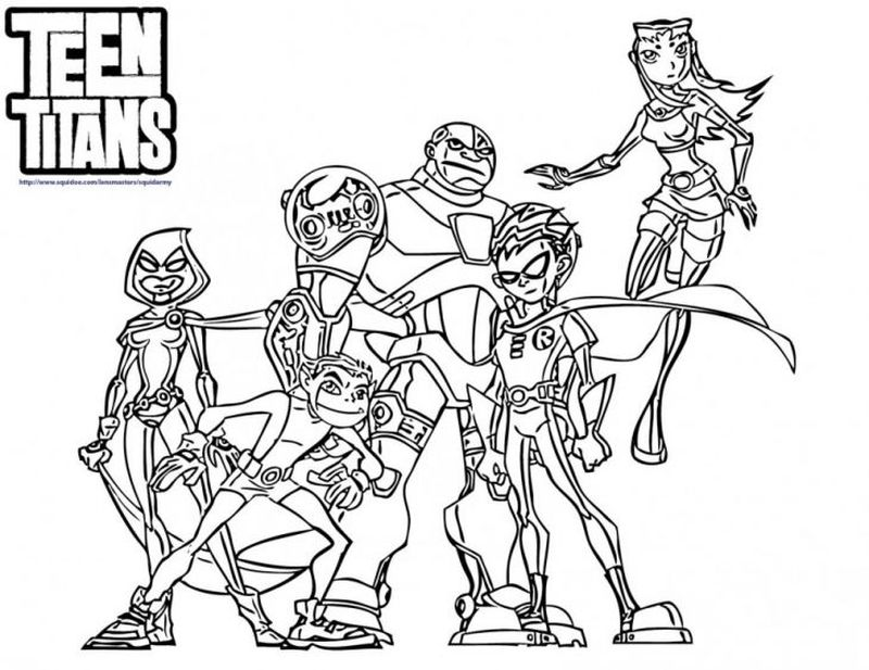 teen titans go raven coloring pages Printable