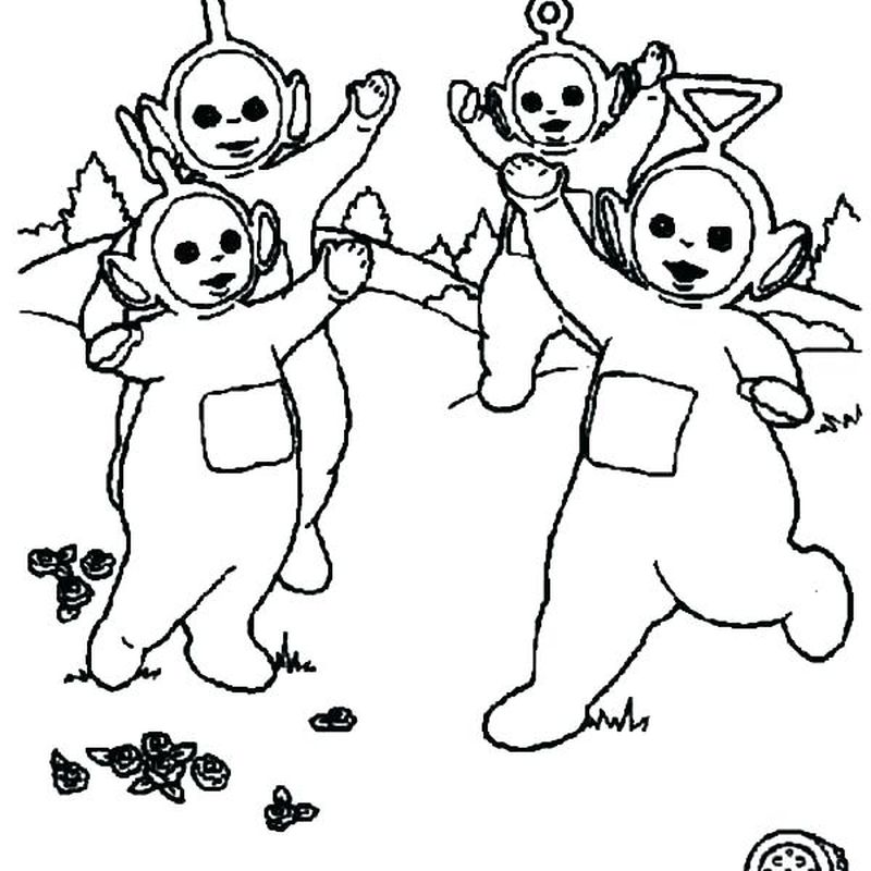 teletubbies coloring book Printable