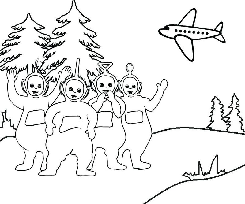 teletubbies dipsy coloring pages Printable