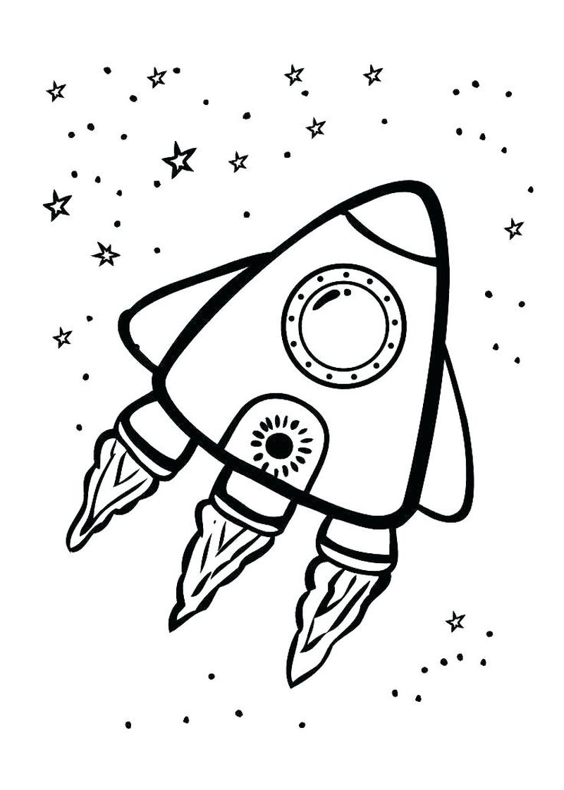 travel through space coloring pages