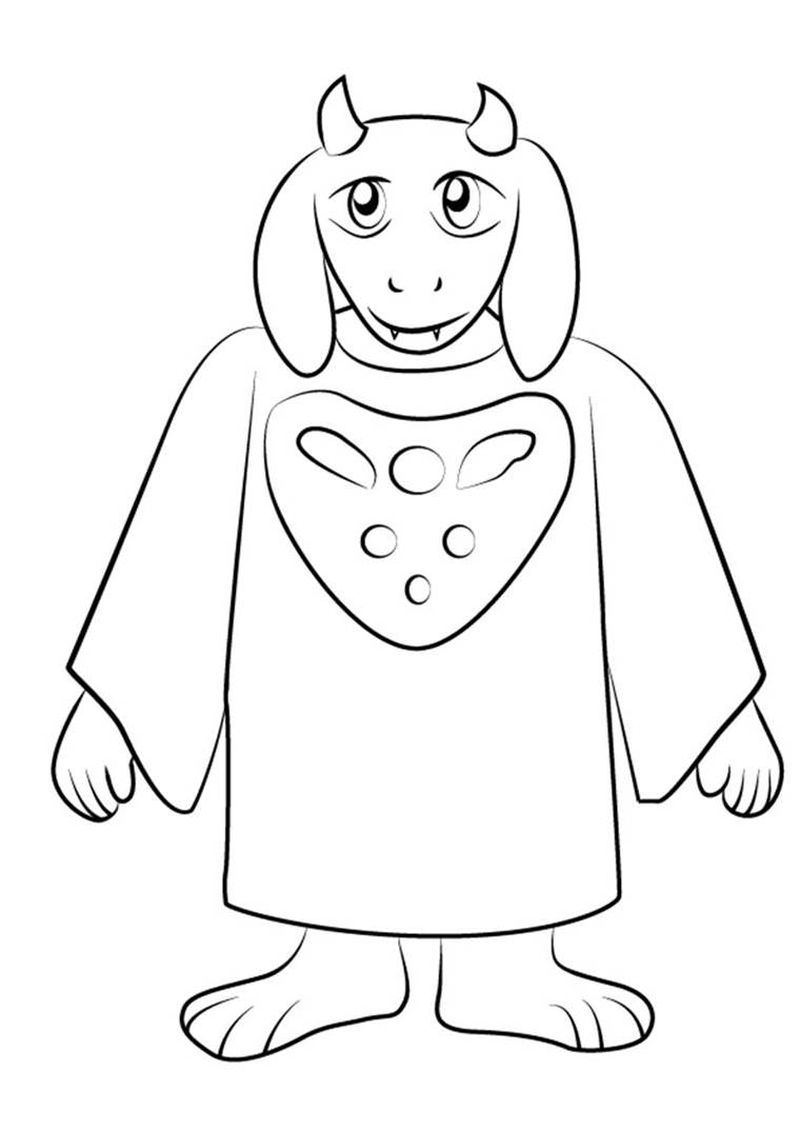 undertale chara images coloring pages