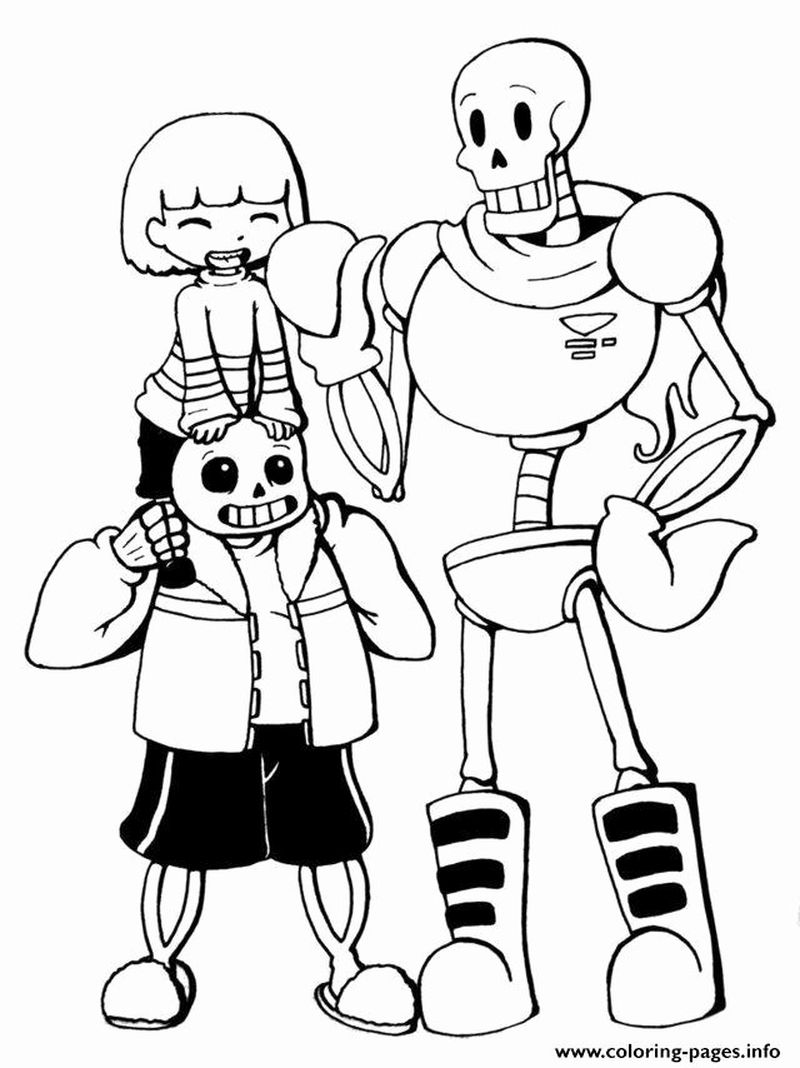 undertale coloring pages all characters