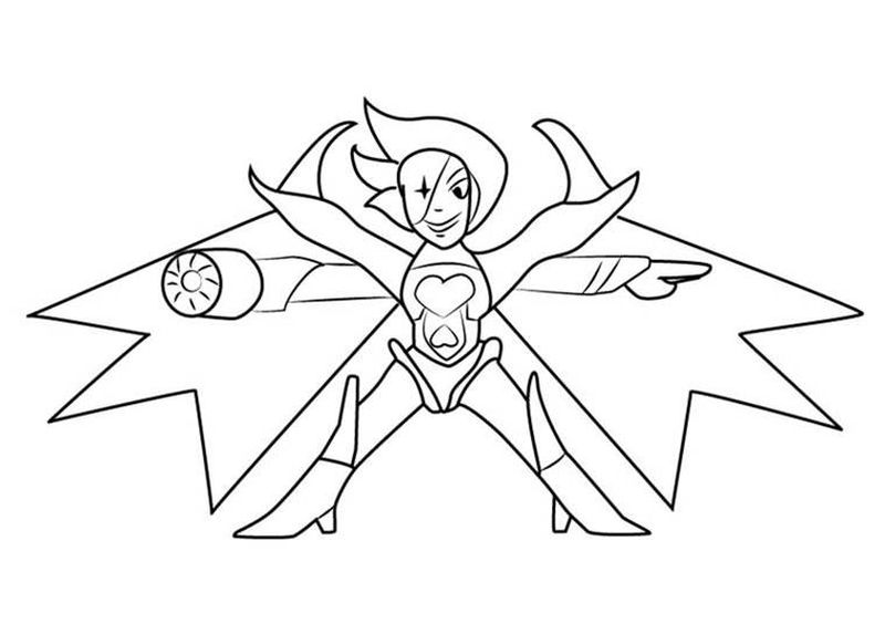 undertale coloring pages anime