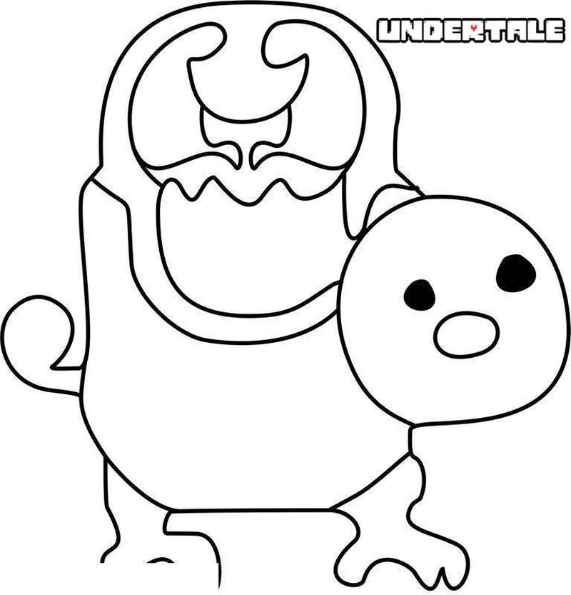 undertale coloring pages sans and papyrus Printable