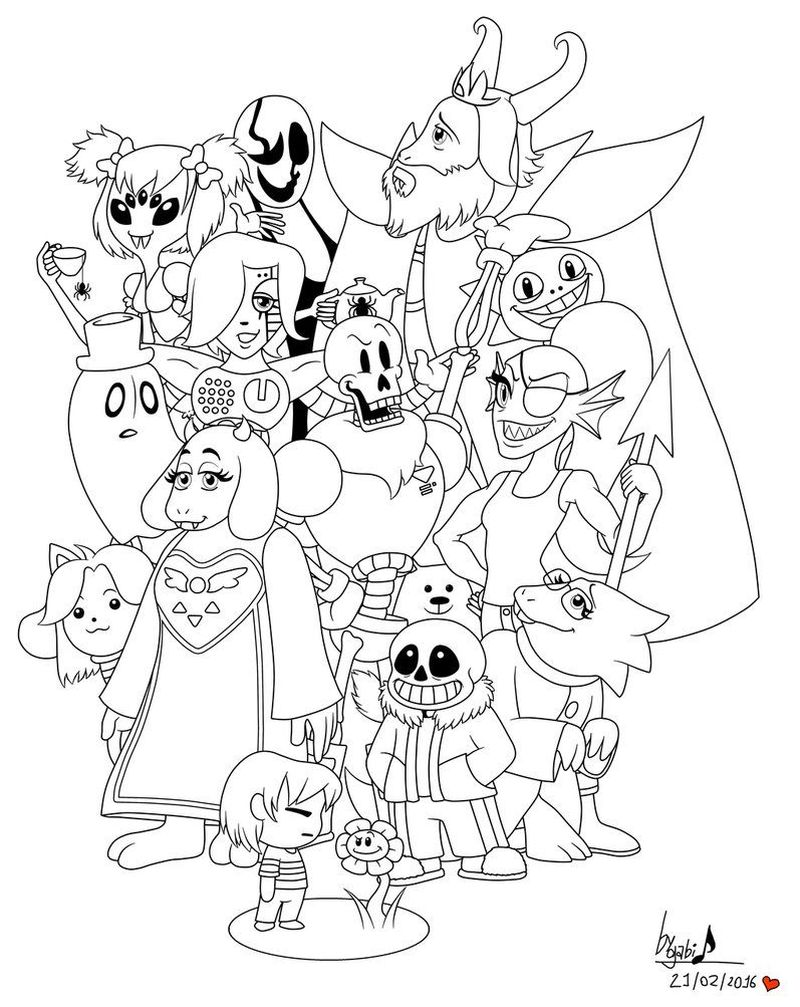 undertale coloring pages snas Printable