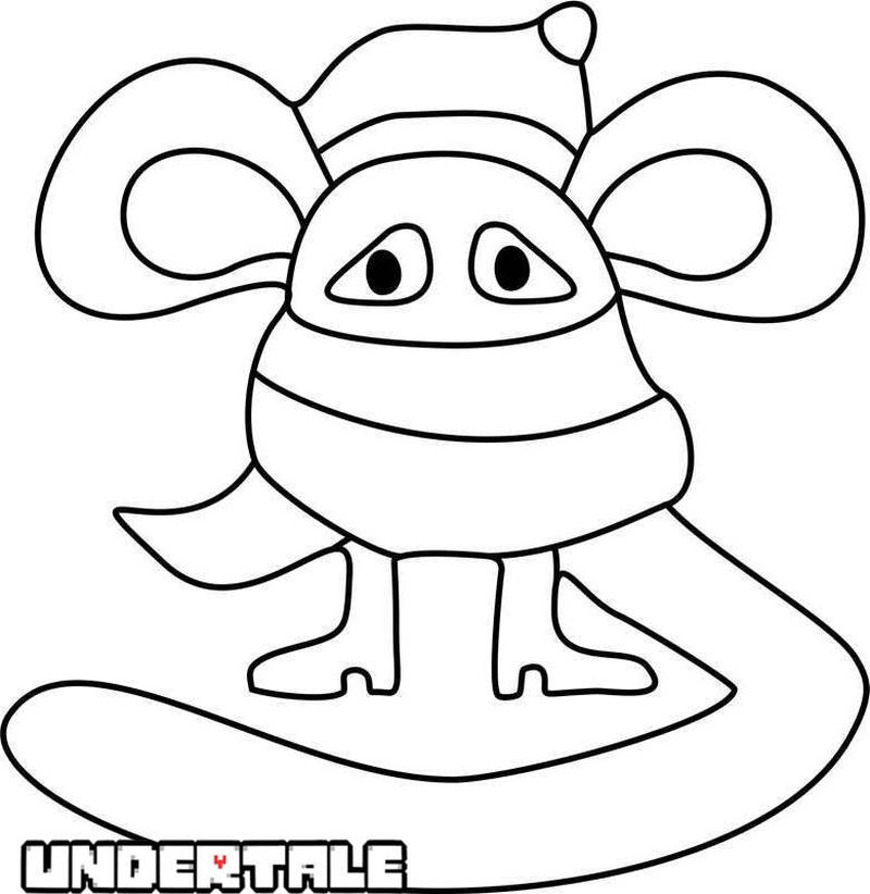 undertale spider girl coloring pages Printable